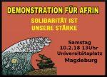 Magdeburg: 10.02.18 Demonstration für Afrin